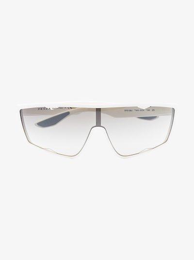 white linea rossa havana aviator sunglasses