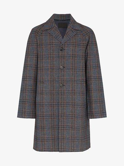 Glen-plaid overcoat