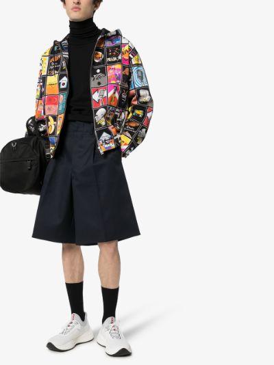 graphic print cotton jacket