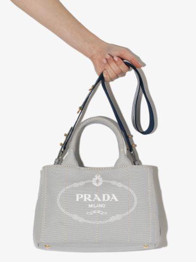 Grey Canapa small canvas tote bag