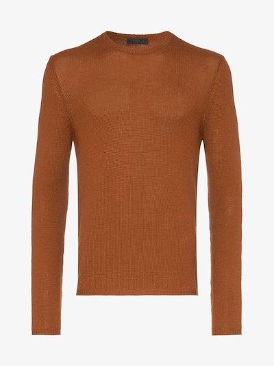 knitted slim fit cashmere jumper