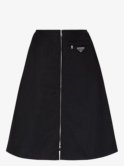 logo-plaque A-line skirt