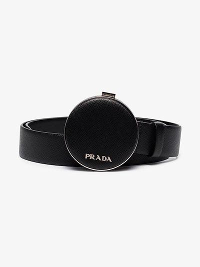 logo-plaque pouch-detail belt