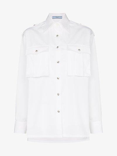 oversized button-up cotton shirt