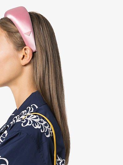 Pink logo satin headband