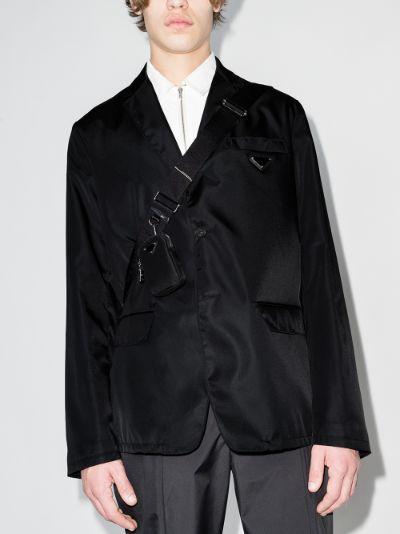 Re-Nylon single-breasted jacket
