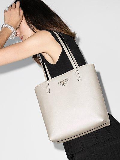 saffiano leather tote bag