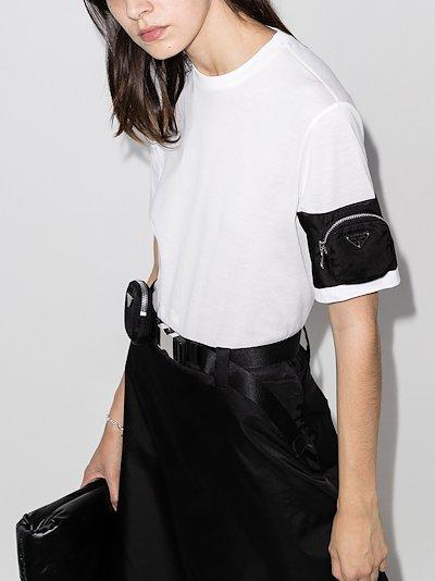 zip-pocket cotton T-shirt