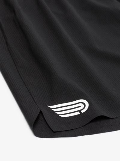 black Ārahi 4.5 recycled running shorts