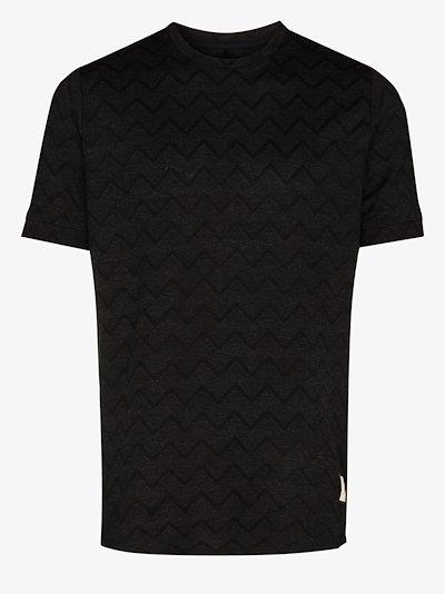 caspian zigzag knitted T-shirt