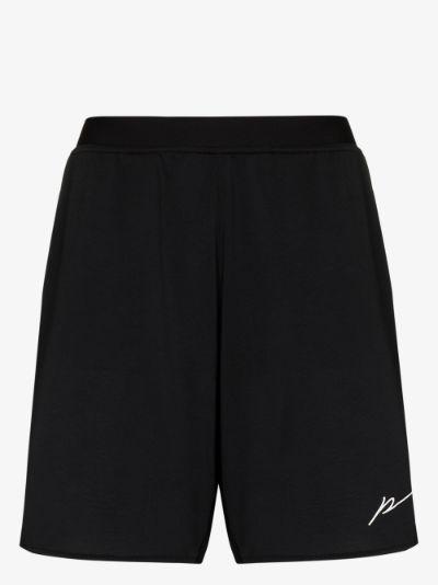 logo print running shorts