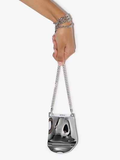 silver tone Delicate Bones mini bag