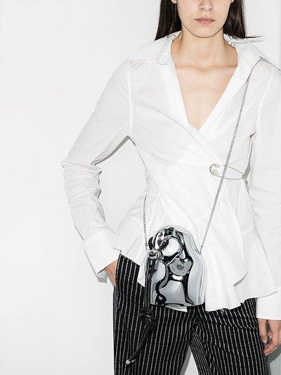 silver tone Ruby's Lost Stone mini bag