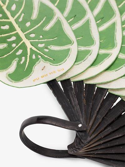Green Monstera large leaf fan