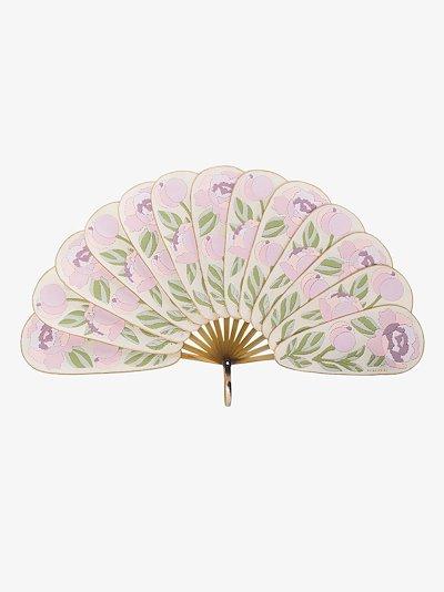 pink peony fan
