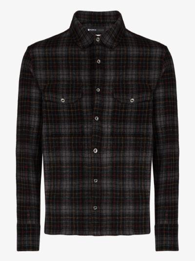 gauze plaid wool shirt