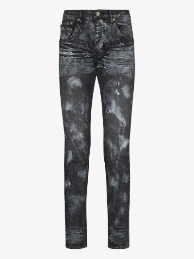 hard wax slim leg jeans