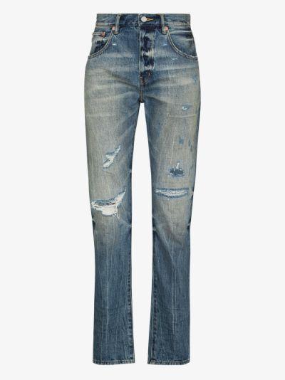 low rise slim leg jeans