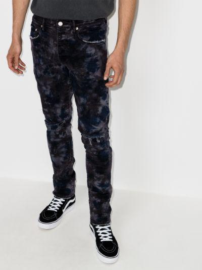 Marble slim leg jeans