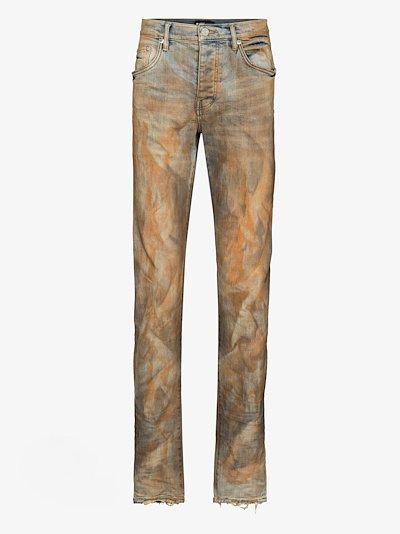 P001 Dirty Resin slim fit jeans