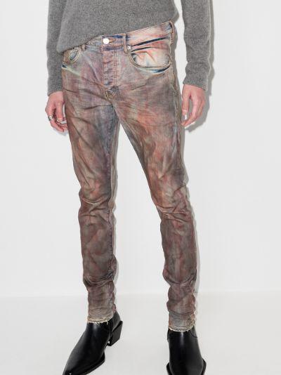 P001 Dirty Resin slim leg jeans