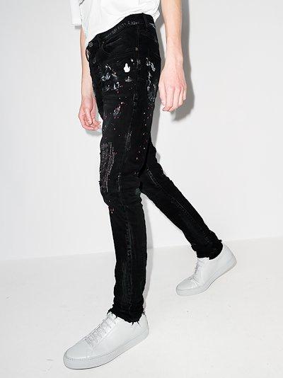 P001 paint repair slim fit jeans