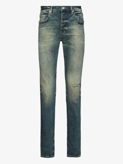 P001 tinted slim fit jeans