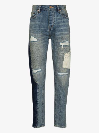 P003 Sashiko Repair tapered jeans