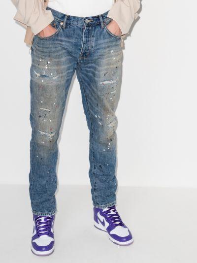 paint repair straight leg jeans