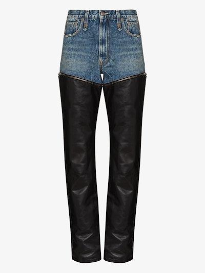 Axl zip-off straight leg jeans