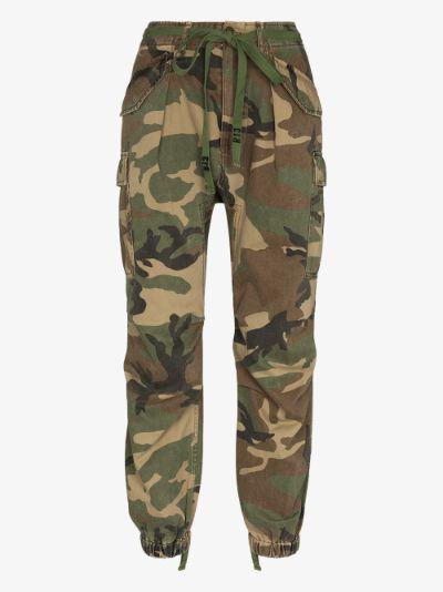 camo print cargo trousers