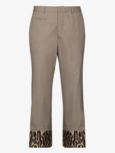 contrast cuff trousers