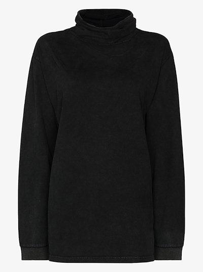 funnel neck cotton sweatshirt