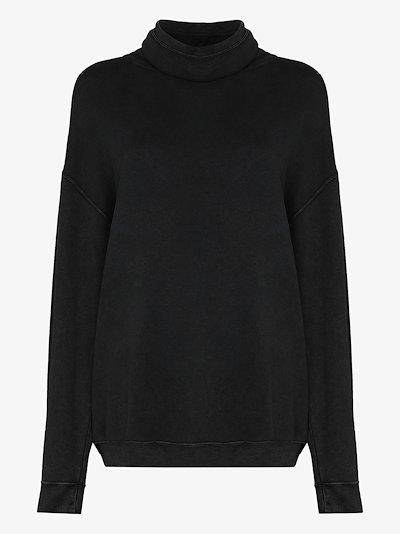Funnel Neck drawstring Sweatshirt