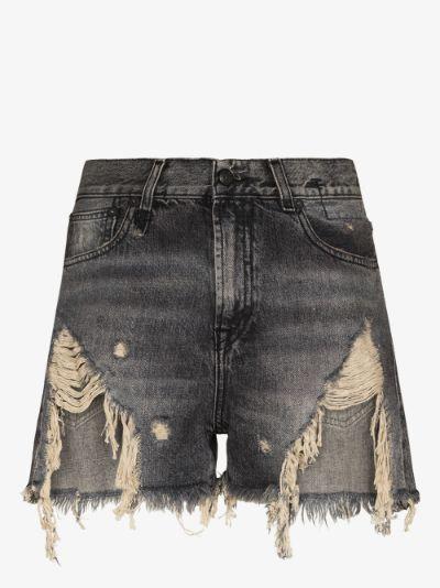 Niles Shredded Denim Shorts