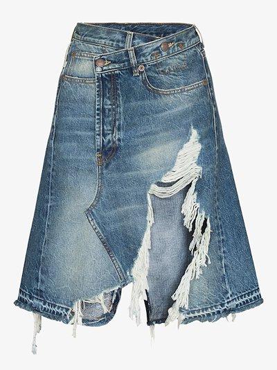 Norbury distressed denim mini skirt