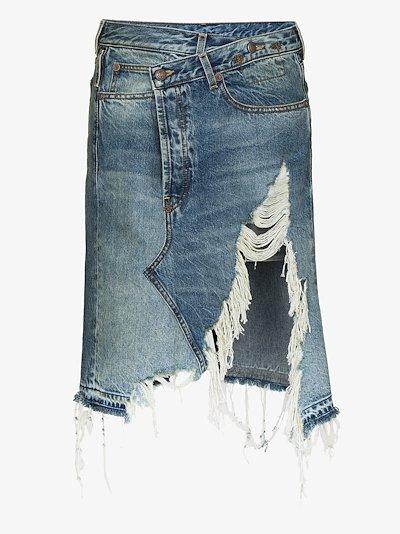 Norbury distressed denim skirt