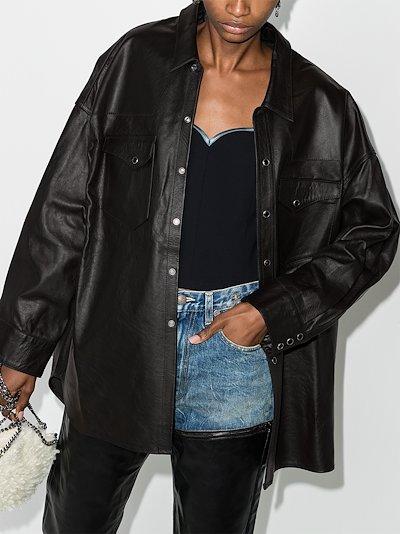 oversized leather cowboy shirt
