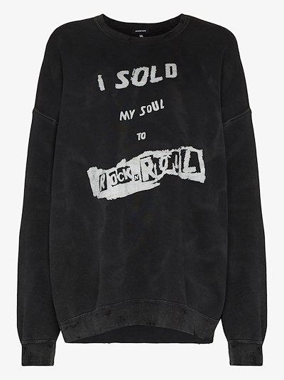 printed slogan sweatshirt