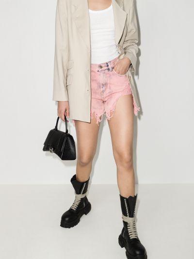 shredded denim shorts