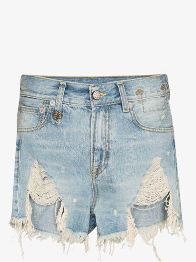 Tilly shredded denim shorts