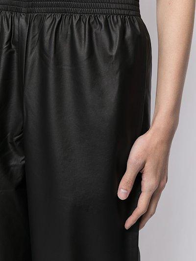 elasticated-waist wide trousers