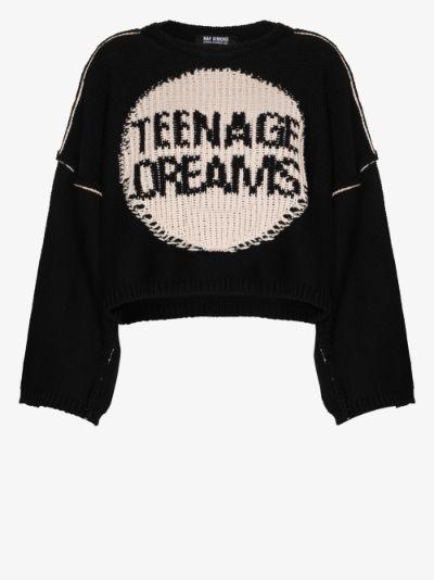 Teenage Dreams cropped wool sweater