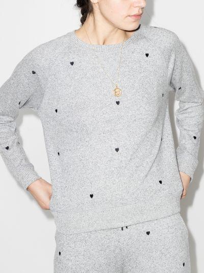 Callahan Embroidered Heart Sweatshirt
