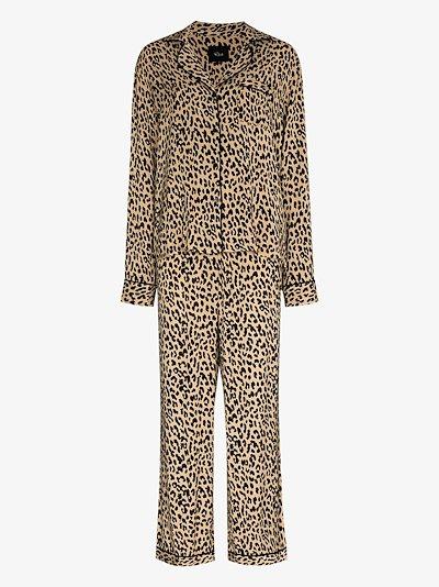 Clara jaguar print pyjamas