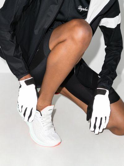 black Brevet reflective cycling gloves