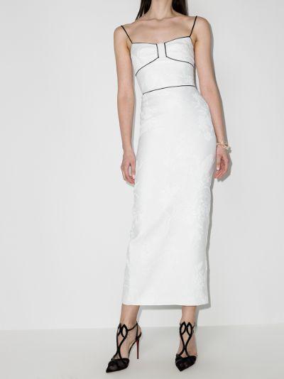 bustier jacquard dress