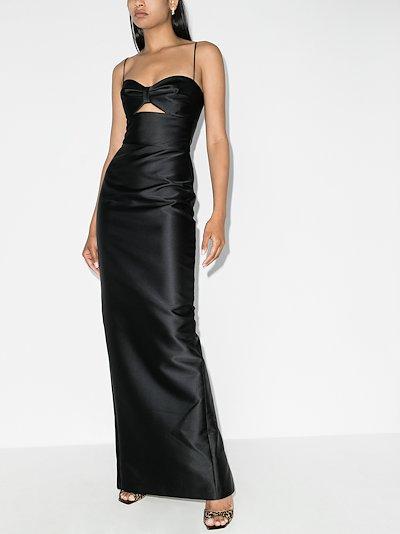 cutout bow maxi dress