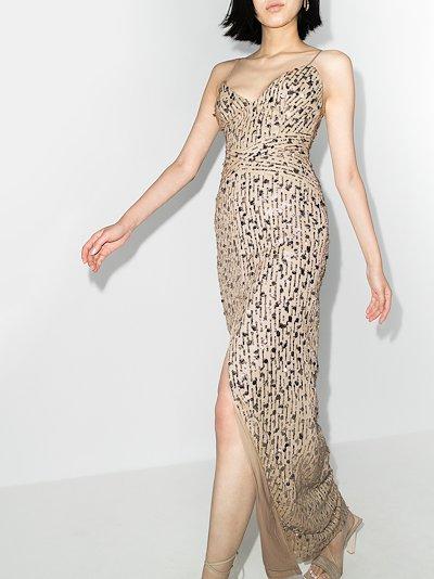 embellished V-neck maxi dress