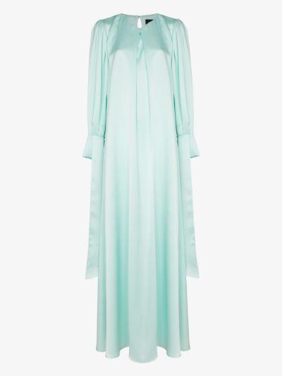 Round neck bell sleeve maxi dress